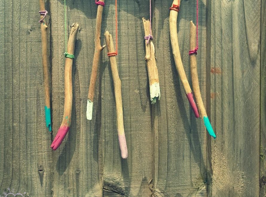 Make a Wind Chime by using wood sticks| Simple and fun