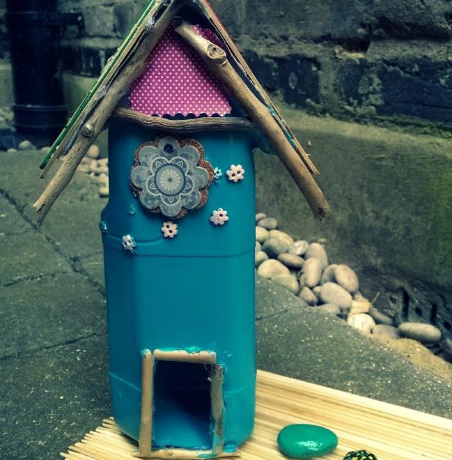 How to make a Fairy House from a milk bottle| Fairies Series