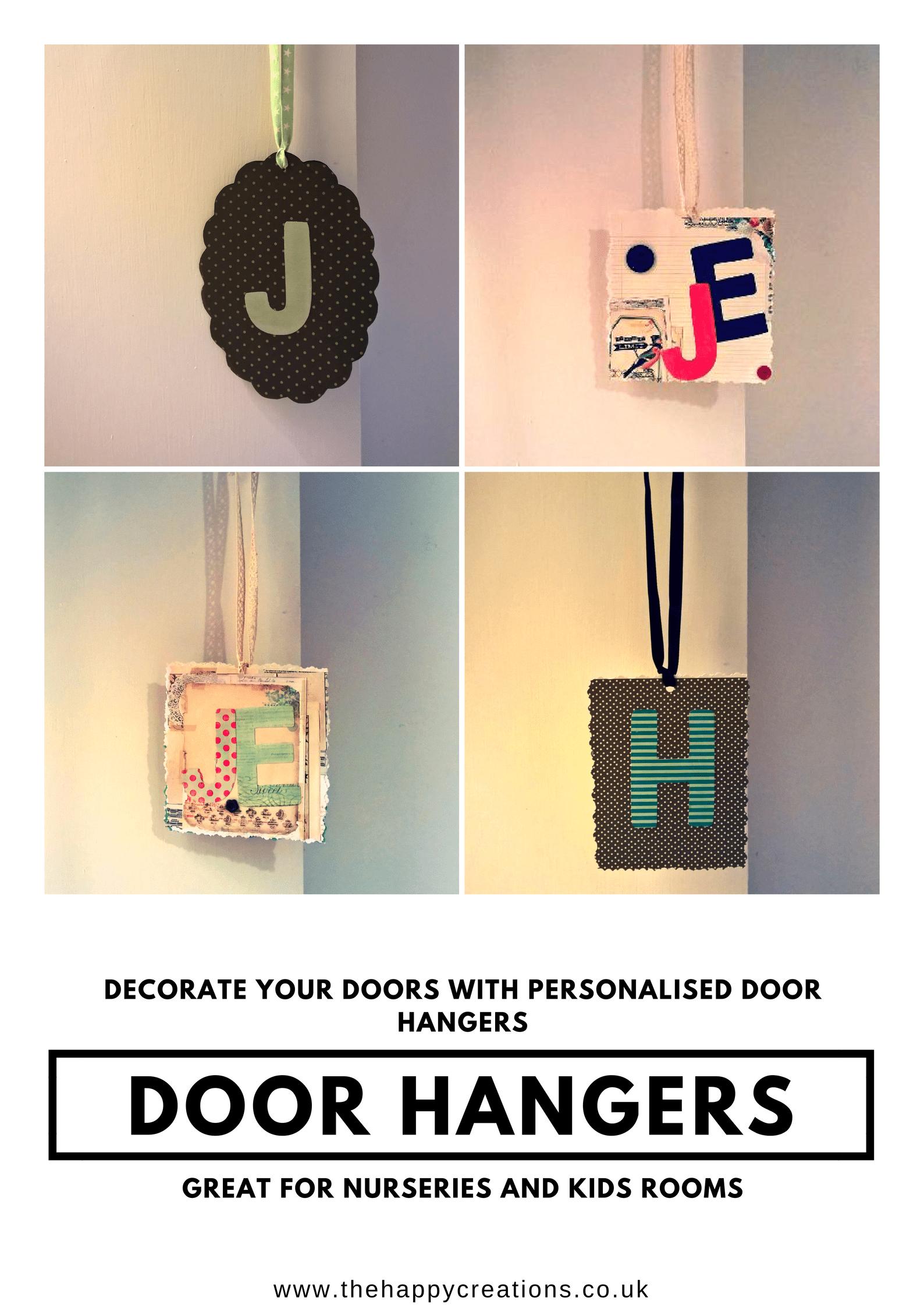 Make a Door Hanger. A great handmade gift.