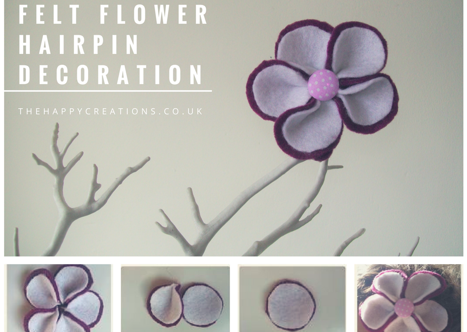Felt Flower Hairpin Decoration | Learn how to make it