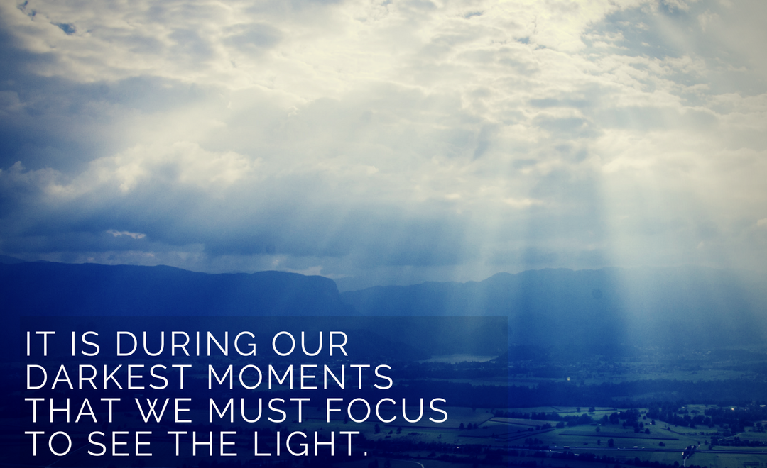 Light in the dark. Change comes from within