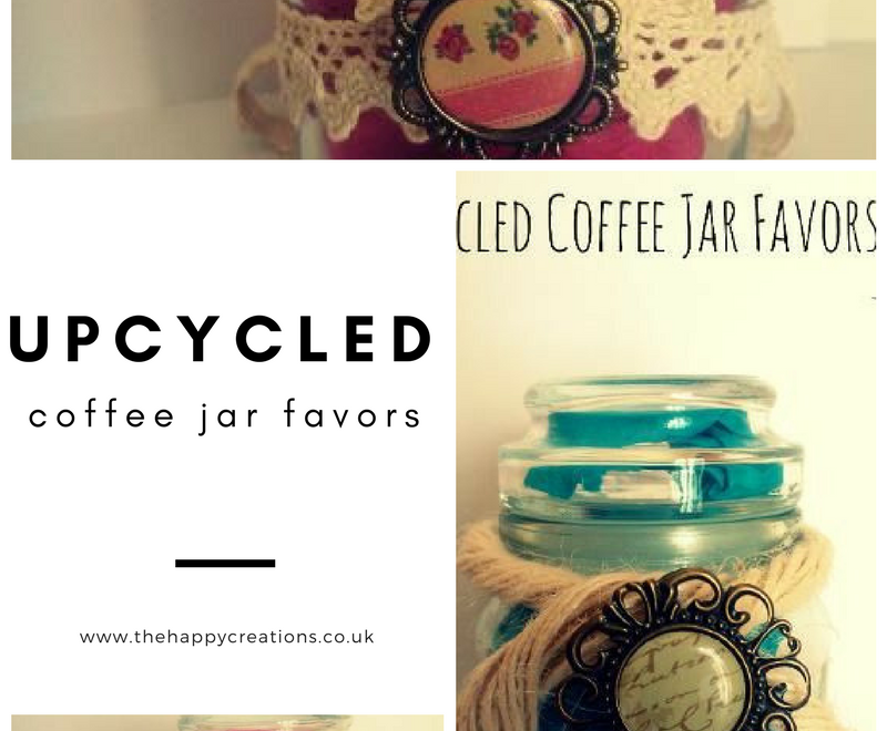 Upcycled Coffee Jar Favors
