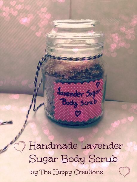 DIY Lavender Sugar Body Scrub | Natural Beauty Recipe